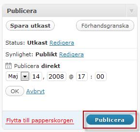 Timestampfunktionen i WordPress